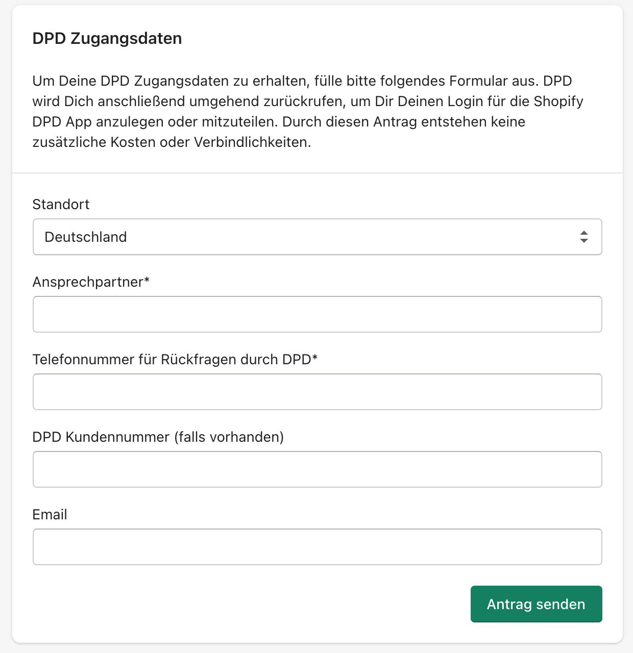 DPD Webservice Zugangsdaten